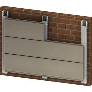facciata ventilata in alluminio / liscia / con elemento di fissaggio