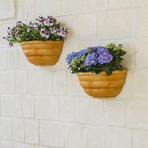 vaso da giardino in polietilene / da parete / semitondo