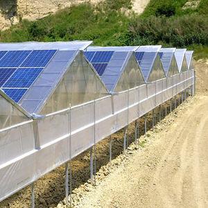 pannello fotovoltaico policristallino / integrato all'edificio / per serra