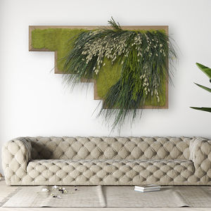 quadro vegetale stabilizzato / in fogliame / da interno / a libera installazione