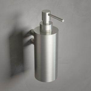 distributore di sapone contract / da parete / in acciaio / manuale