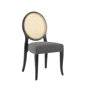 sedia moderna / imbottita / impilabile / a medaglione