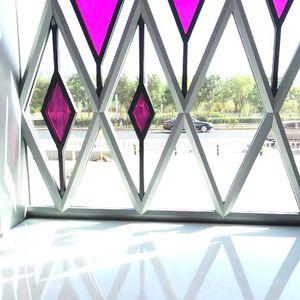 pannello in vetro laminato / testurizzato / per facciata / colorato