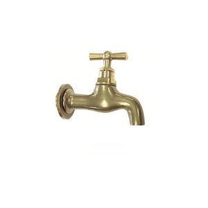 rubinetto per fontanella / da parete / in ottone / standard