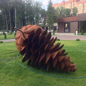 scultura in corten / per spazi pubblici / per edifici pubblici / per ristorante
