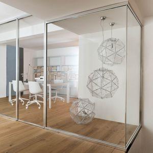 parete amovibile / in vetro / in alluminio / da ufficio