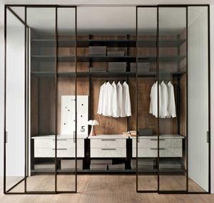 porta per cabina armadio in alluminio anodizzato