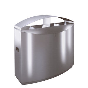 pattumiera pubblica / in acciaio inossidabile / in acciaio inossidabile spazzolato / per spazi pubblici