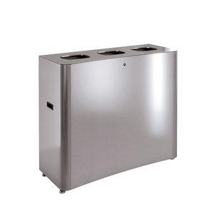 pattumiera in lamiera d'acciaio / in acciaio inossidabile / in acciaio inossidabile spazzolato / per scuola