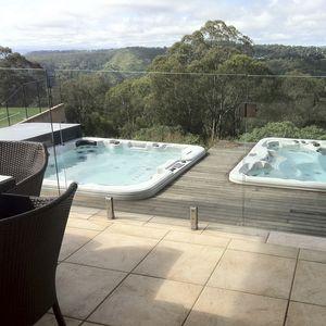 spa da incasso per nuoto controcorrente / quadrata / multiposto / da esterno