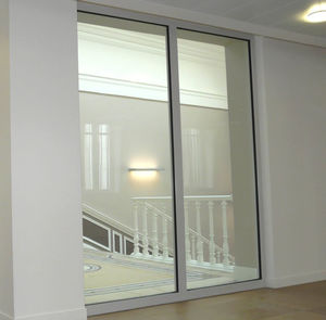 parete fissa / in vetro / in alluminio / da ufficio