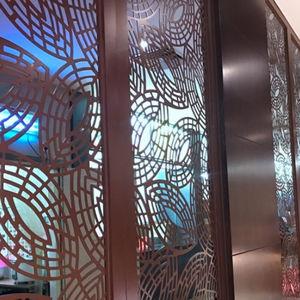lamiera metallica perforata / decorativa / in alluminio / per interni