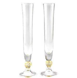 flûte per champagne in vetro soffiato
