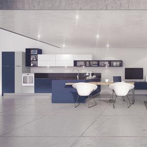 cucina moderna / in Fenix NTM / in laminato / a L