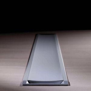 canalina di cablaggio in alluminio / per scrivania / professionale
