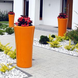 vaso da giardino in composito / da appoggio / tondo / in altezza