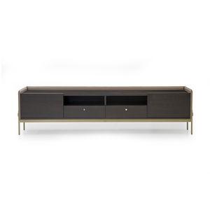 mobile porta TV moderno / lowboard / per camera d'hotel / impiallacciato in legno