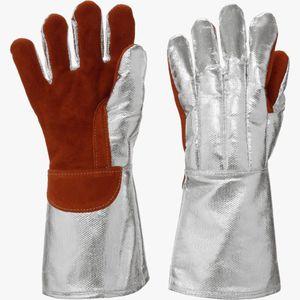guanto di protezione termica / in tessuto / alluminio