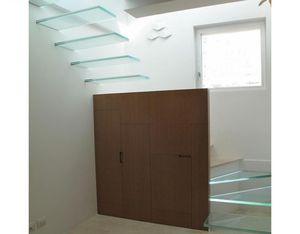 scala dritta / circolare / elicoidale / in vetro