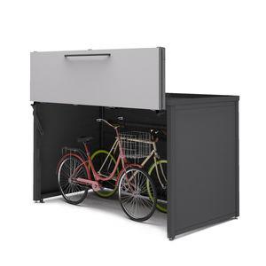pensilina per biciclette in acciaio