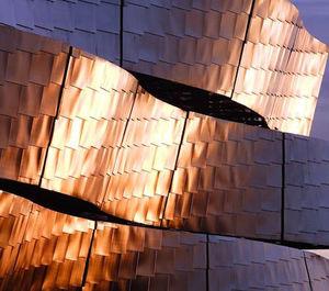 paramento in acciaio inossidabile / in acciaio galvanizzato / per facciata / indoor