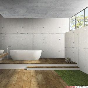 soffitto teso con motivo stampato / a effetto cemento