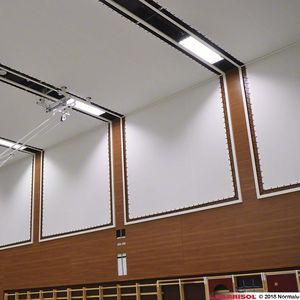soffitto teso acustico / perforato