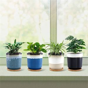 vaso da giardino in ceramica smaltata