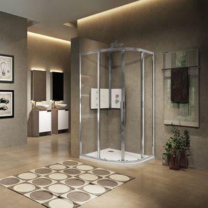 parete doccia scorrevole / d'angolo / curva / in vetro