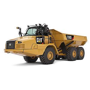 camion ribaltabile a scarico posteriore / articolato / gommato / diesel