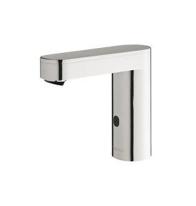 rubinetto per lavandino / da bancone / in metallo cromato / elettronico