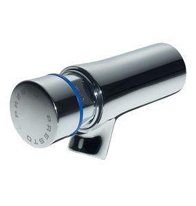 rubinetto per lavandino / da parete / in ottone cromato / temporizzato