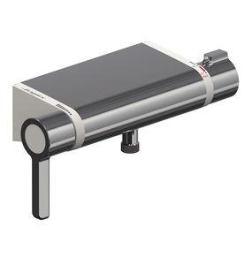 miscelatore doppio comando per doccia / da parete / in metallo cromato / termostatico