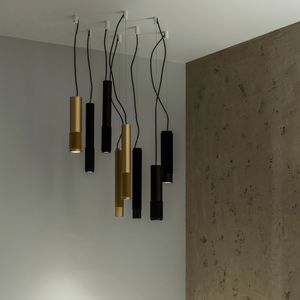 downlight a sospensione / LED / alogeno / tondo
