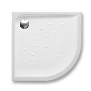 piatto doccia d'angolo / a filo pavimento / in porcellana / ultrapiatto