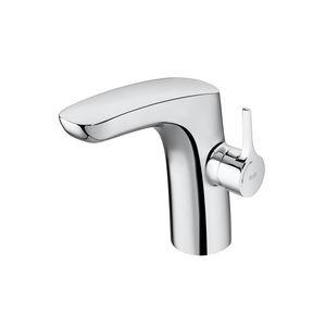 miscelatore per lavabo / da bancone / in metallo cromato / da bagno