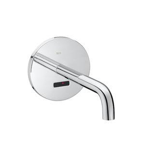 miscelatore per lavabo / da incasso / in metallo cromato / elettronico