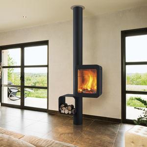 stufa a gas / a legna / in acciaio / in vetro