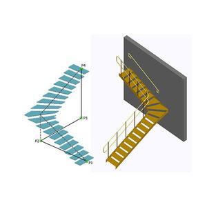 software di progettazione / di modelizzazione / per struttura in acciaio / per scala