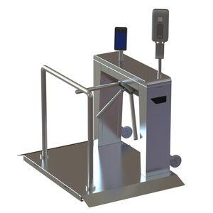 tornello tripode / per controllo accesso / di sicurezza / in acciaio inossidabile