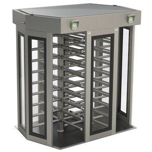 tornello a tutta altezza / per controllo accesso / di sicurezza / in acciaio inossidabile