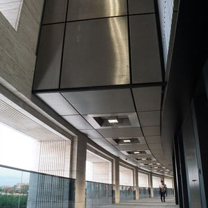 soffitto in maglia metallica / in acciaio inossidabile