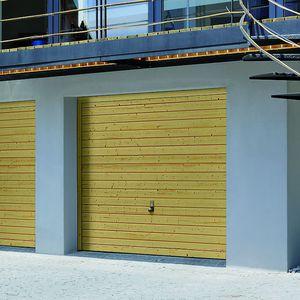 porte basculanti per garage / in legno massiccio / automatiche
