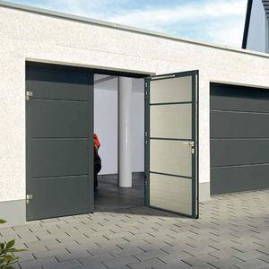 porte battenti per garage / in alluminio / manuali / a doppia anta