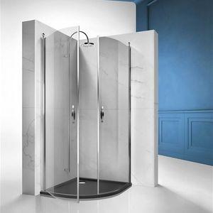 box doccia in vetro temprato / curvo / con sportello battente