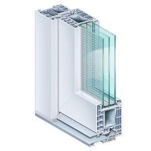 profilato per porte in acciaio / in PVC / a isolamento termico