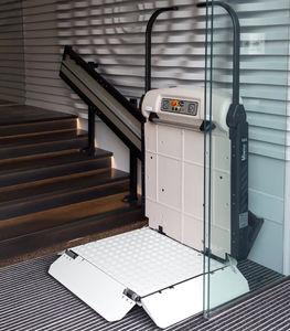 montascale a piattaforma per disabili / inclinato / da esterno / da interno