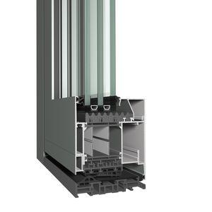 profilato per porte in alluminio / a taglio termico / acustico / a prova di vento