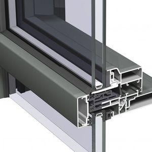 facciata continua semistrutturale / in alluminio e vetro