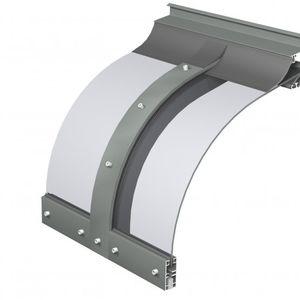 pensilina da ingresso / in policarbonato / in alluminio / ad arco